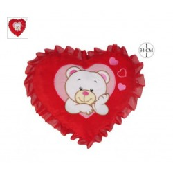 PELUCHE COEUR ROUGE OURS